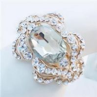Sparkling Gold or Silver Rhinestone Crystal Hinged  Bracelet